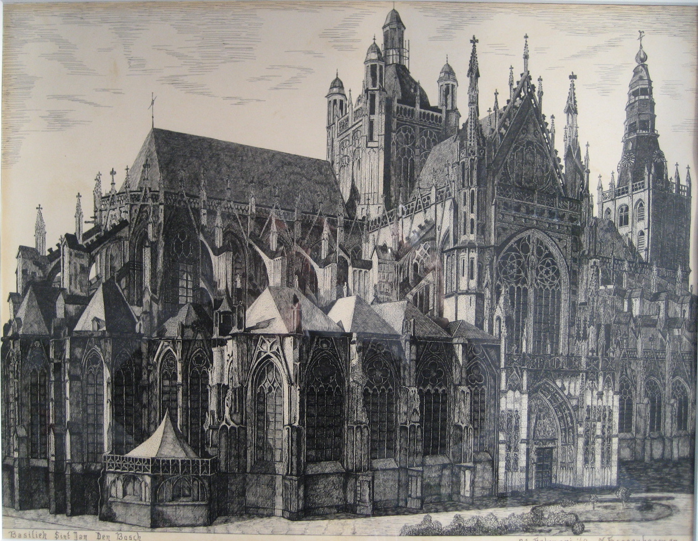 500 - Saint Johns Cathedrale,  Den Bosch - N.Hoogenboom Jr. [80x70]